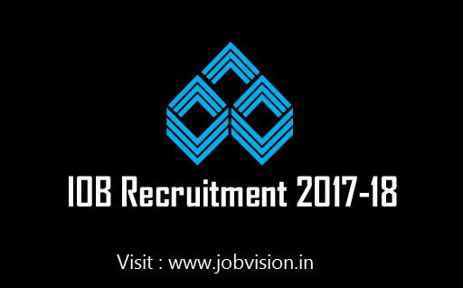 IOB Recruitment 2018