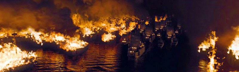 เพลิงไฟเผาผลาญกองทัพเรือโจโฉ