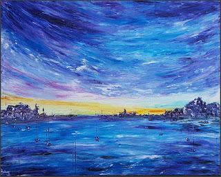 tableau abstrait moderne artiste peintre
