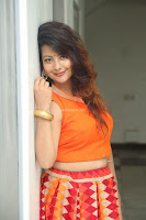 Shubhangi Bant in Orange Lehenga Choli Stunning Beauty ~  Exclusive Celebrities Galleries 019.JPG