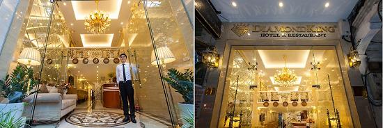 Khách sạn Hanoi Diamond King thiết kế ấm cúng, trang nhã và hiện đại Ks