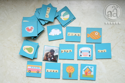 selfmade toys a memory game artsy ants. Black Bedroom Furniture Sets. Home Design Ideas