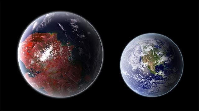 Comparação entre o exoplaneta Kepler-442b e a Terra