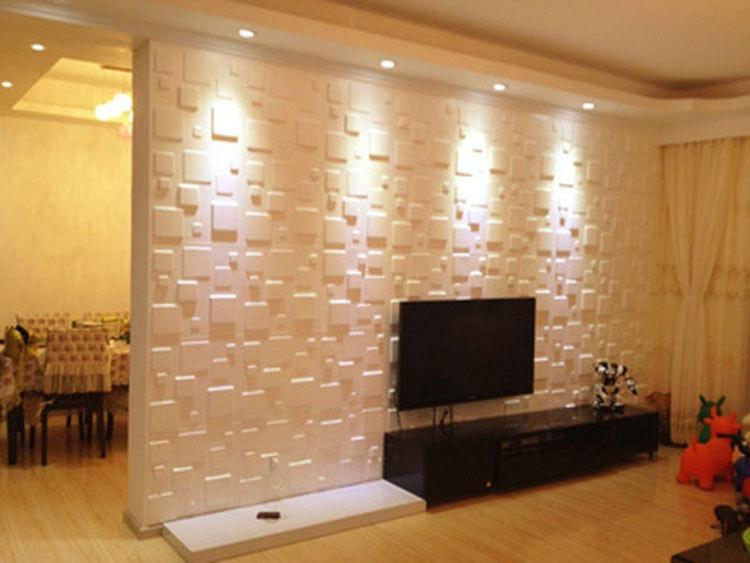 Revestimento de parede 3d for Revestimento 3d sala de estar
