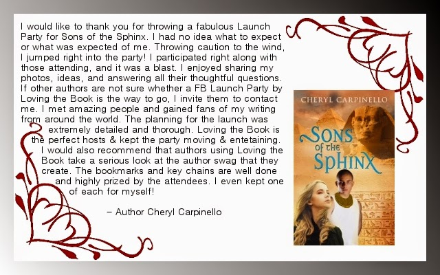 http://www.amazon.com/Sons-Sphinx-Cheryl-Carpinello-ebook/dp/B00MVGC96Y/ref=asap_B002GGGZY6_1_2?s=books&ie=UTF8&qid=1416191795&sr=1-2