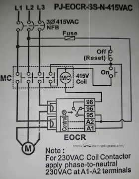 Electronic Overload Relay Wiring Diagram EOCR - SS on time delay relay wiring, timer relay wiring, din rail relay wiring, thermostat relay wiring,