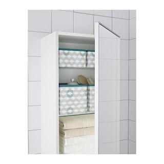 Ikea - platnene škatlice za shranjevanje v kopalnici.