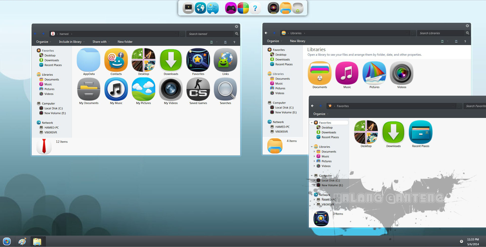MeeGo Skin Pack for win 7 Screenshot 1