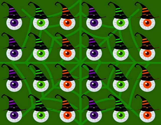 Halloween-bloody-eye-green-pattern-design-by-yamy-morrell