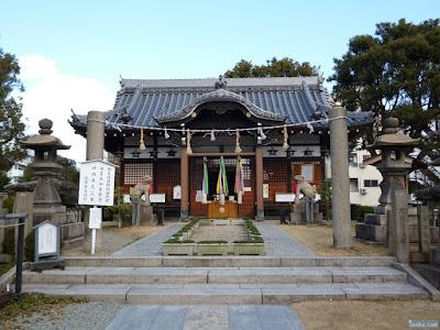 蒲田神社注連柱