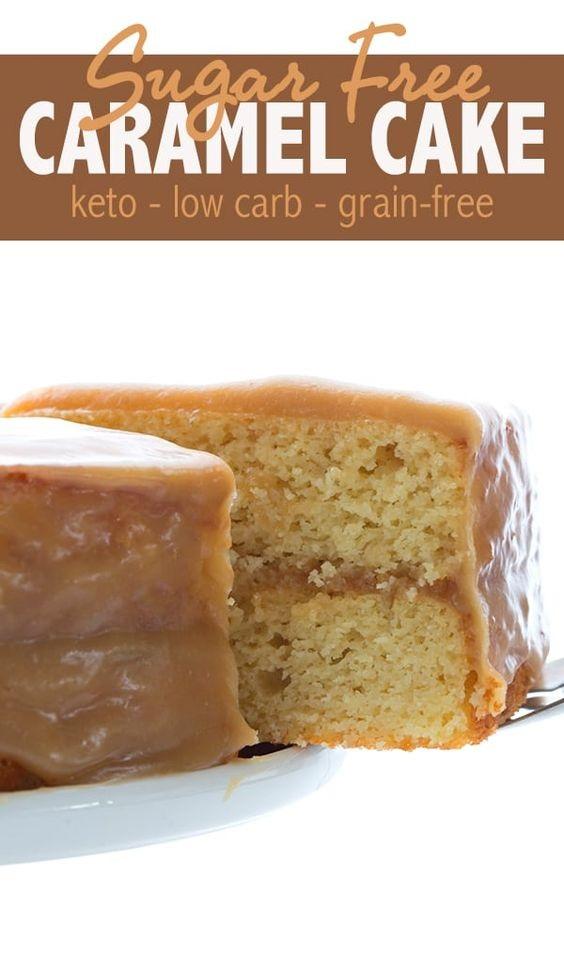 Keto Caramel Cake