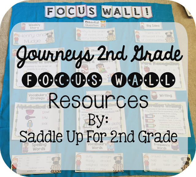 Henry and Mudge Focus Wall Anchor Charts Journeys 2nd Grade