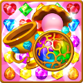Jewels fantasy match 3 puzzle