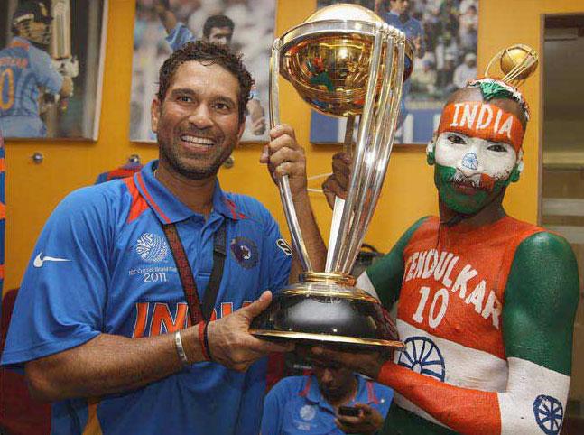 Living God Of Cricket With His Die Heart Fan Sachin Tendulkargod