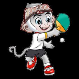 Logo dan Lambang Cabang Olahraga PON Jabar 2016 Tenis Meja
