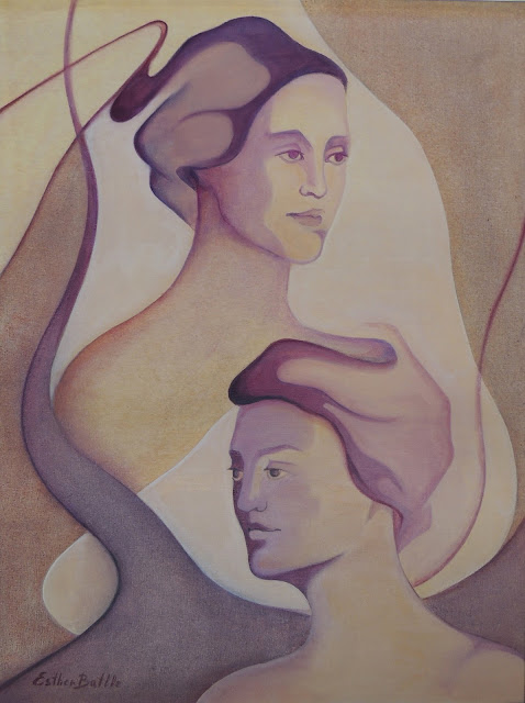 Esther Batlle pintura figurativa desnudo