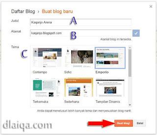 klik 'Buat blog!'