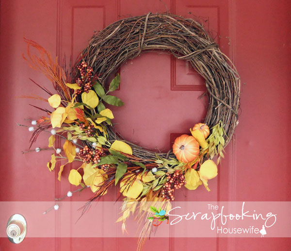 HOW TO MAKE AN AUTUMN WREATH from The Scrapbooking Housewife