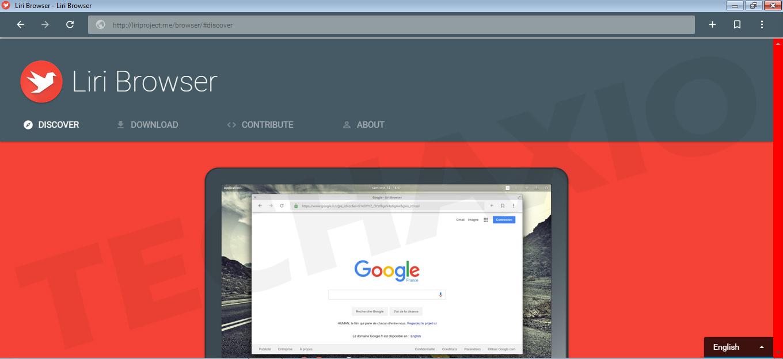 Liri Browser Screenshot