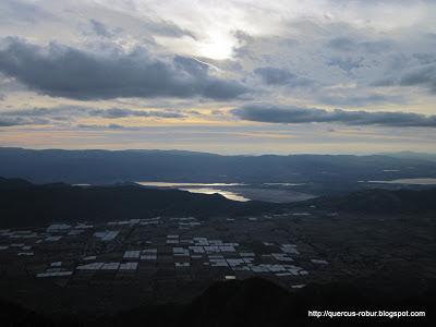 Laguna de San Marcos desde las antenas del Cerro Viejo