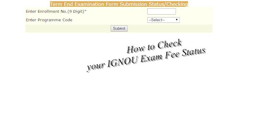 How to Check IGNOU EXAMINATION Fee status - Hindi Articles | हिन्दी ब्लॉग