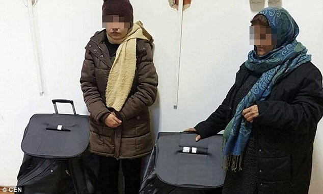 Two women discovered entering Austria inside suitcases