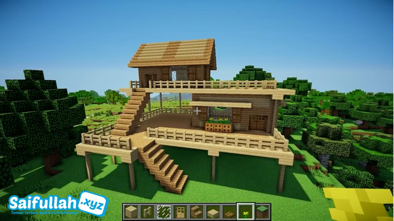 Rumah Minimalis Sederhana Di Minecraft