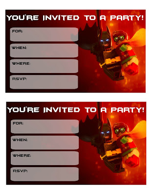 free lego batman movie party printables