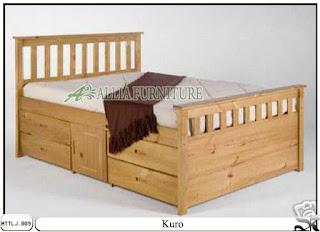 Tempat tidur minimalis laci kuro