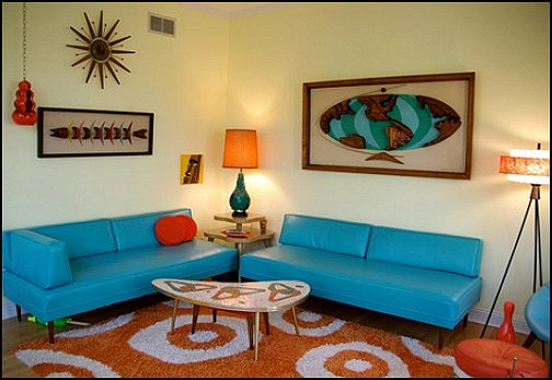 Decorating theme bedrooms maries manor retro mod style - 1950 s living room decorating ideas ...