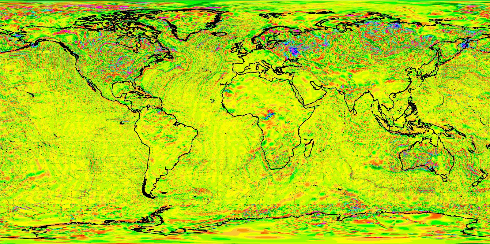 Magnetic Anomaly Map Of The World.One For The Road World Digital Magnetic Anomaly Map