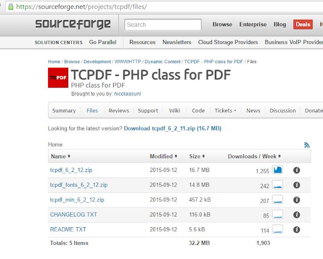 cara integrasi codeigniter dengan tcpdf