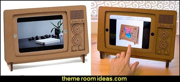 cardboard iPad tv stand