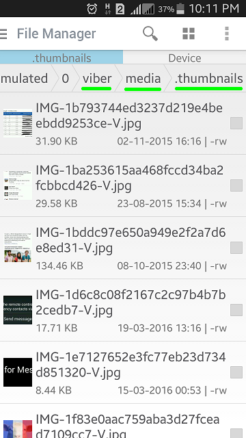 How to get the thumbnail pictures of your viber « Amazing