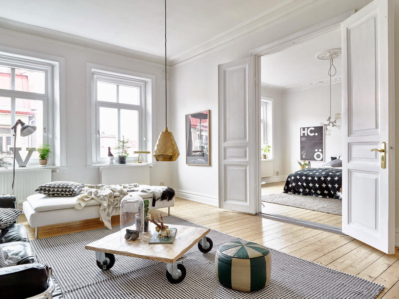 My Scandinavian Home: A Beautiful White Apartment With Notes Of Grey, Green  And Brass