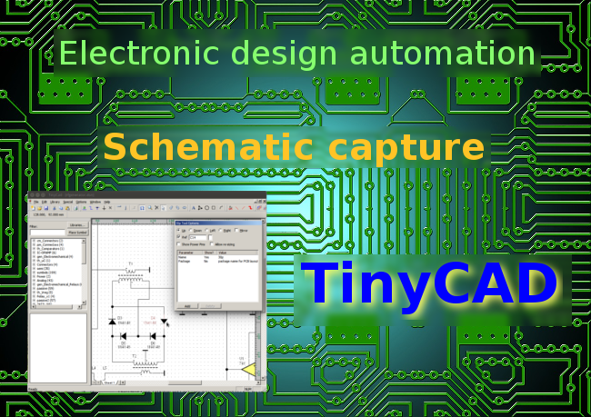 Free EDA: Good looking schematics using TinyCAD · One Transistor Free Schematic Capture on free drawing, logic synthesis, free assembly, free design, electronic design automation, free electronics, free pictogram, free venn diagram, free cad, free schedule, free sectional, free logic, schematic editor, digital electronics,