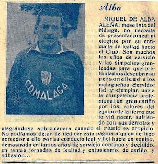 Miguelito Alba, el eterno masajista.