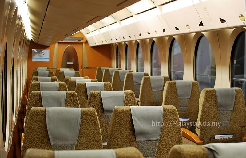 Interior of Nankai Airport Line Train