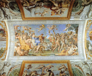 Part of the ceiling at the Palazzo Fernese in Rome