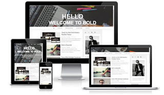 Bold blogger template