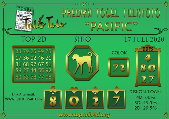 Prediksi Togel PASIFIC TULISTOTO 17 JULI 2020