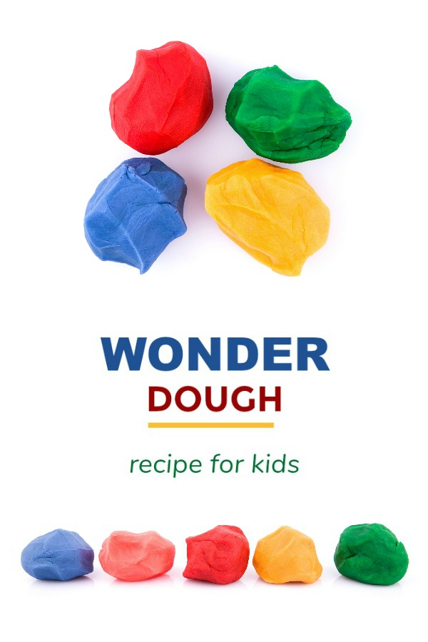 WONDER DOUGH (2-ingredient, no-cook play dough for kids!) #playdoughrecipe #playdough #playdoughrecipenocook #playdoughrecipeeasy #wonderdough #playrecipesforkids