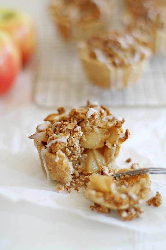 mini iced oatmeal cookie apple pies
