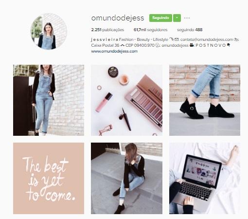 Feeds Instagram o mundo da jess