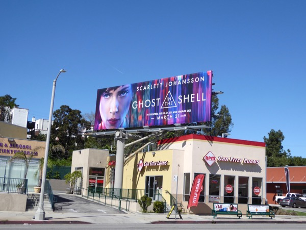 Ghost in the Shell film billboard