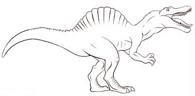 Carnivore Dinosaur Spinosaurus Coloring Pages