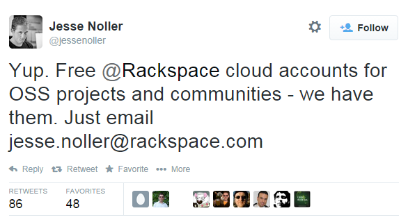 Rackspace Free Cloud Open Source Developers Jesse Noller