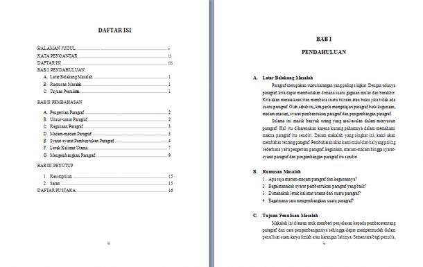 Contoh Makalah Bahasa Indonesia Lengkap Format Docx Microsoft Word Contoh Docs