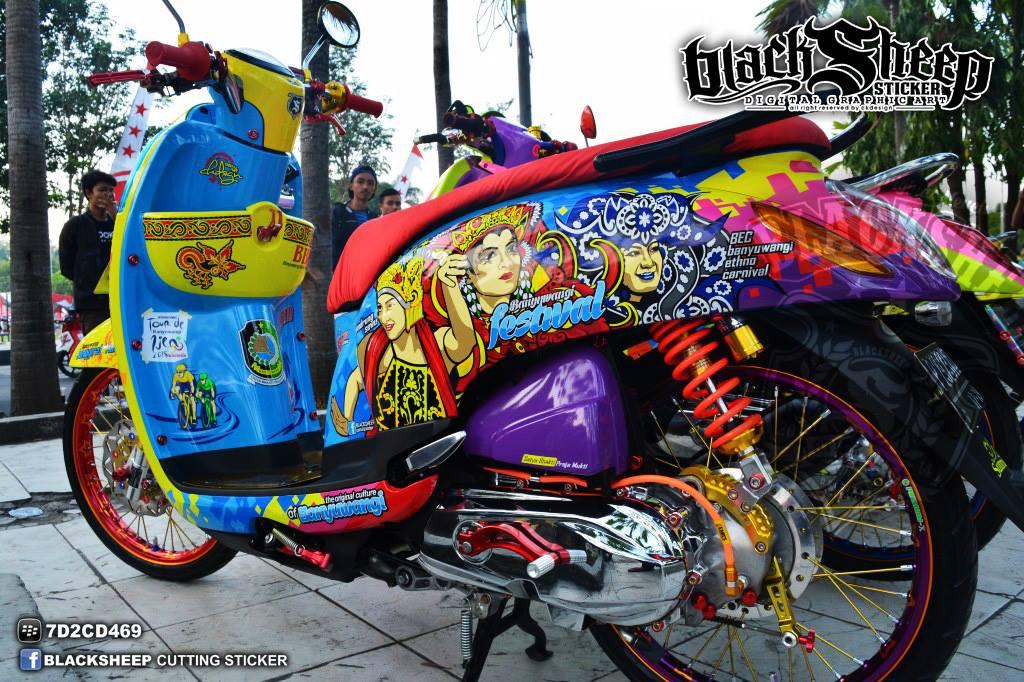 Honda Scoopy Banyuwangi Festival 3d Cutting Sticker