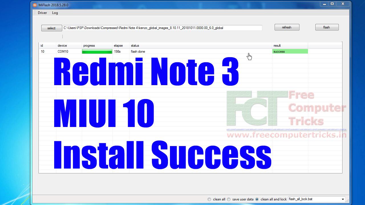 Redmi Note 3 MIUI 10 : How To Flash MIUI 10 Global Beta ROM